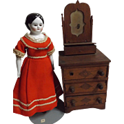 Dresser for a Folk Art Doll or Early Doll