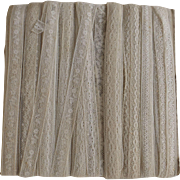 Large Card of Antique Lace, Nine Different Patterns