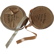 Two Spools of Antique Satin Ribbon