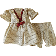Cotton Dress w/Matching Pants for a Small Doll