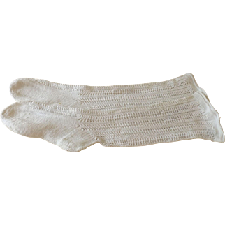 Pair of Antique Socks for a Large Doll