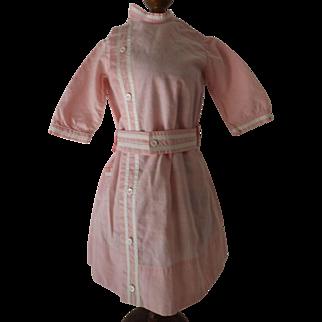 Pretty Pink Cotton Doll Dress