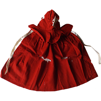 Red Wool Shaker Cape for Pattern