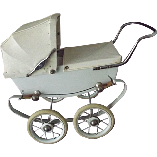 """French Doll Carriage """"REO"""" Complete w/Cover"""