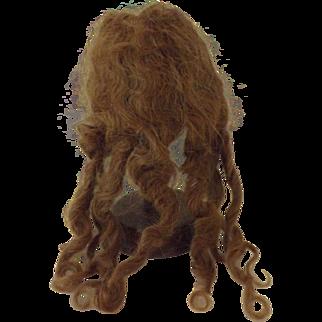 Pretty Human Hair Doll Wig, Pretty Reddish Color