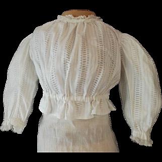 Pretty White Cotton Doll Blouse
