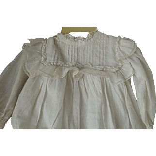 Antique Factory White Dress for a Large Doll