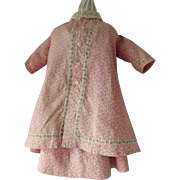 Two-Piece Dress Set for an Early Doll--China, Papier Mache