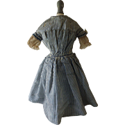 Awesome Antique Doll Dress with Damage, 1800's