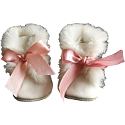 Leather Shoes With Fur Trim