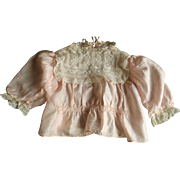 Beautiful Pink Silk Doll Blouse