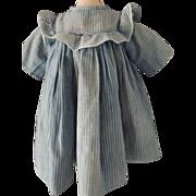 Vintage Blue Stripe Doll Dress