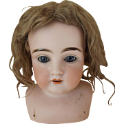 Old Dark Blond Mohair Doll Wig