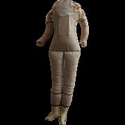 Doll Body For A Wax or Papier Mache Shoulder Head