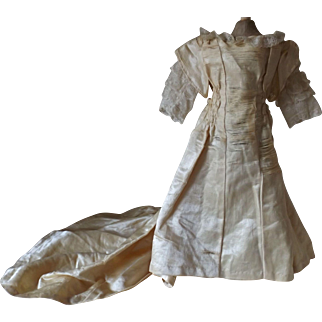 Antique Doll Gown for Restoration or Pattern