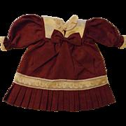 Cute Cranberry Silk Doll Dress