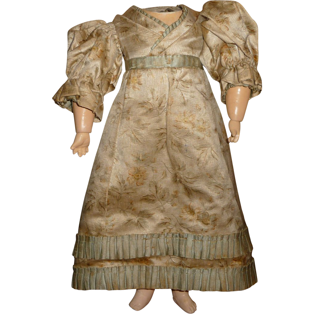 fabulous antique printed silk doll dress sold on ruby