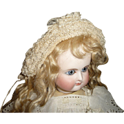 Superb antique intricate ribbon and lace bonnet