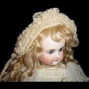 Superb antique intricate ribbon and lace bonnet