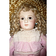 Antique portrait Jumeau french doll large first series almond eyed portrait Jumeau french bebe