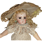 Charming antique wide brim bonnet for small to medium doll