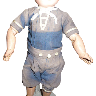 Darling antique little boy sailor outfit for small doll