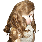Beautiful antique mohair doll wig for french bebe or german child doll
