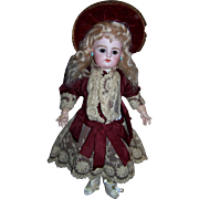 Antique french doll dress original couturier outfit circa 1885