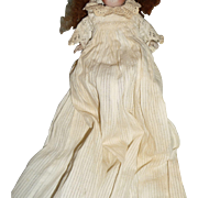 Beautiful antique tiny all bisque factory made christening doll dress