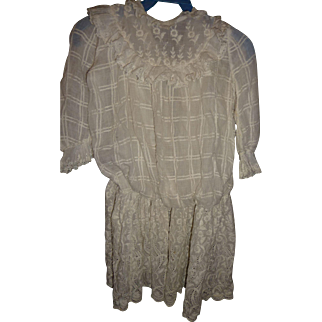 Beautiful antique whitework dress for doll