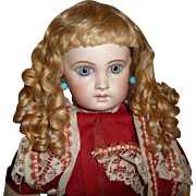 Gorgeous antique mohair doll wig for german or french doll