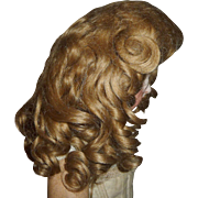 Gorgeous antique mohair doll wig with curls