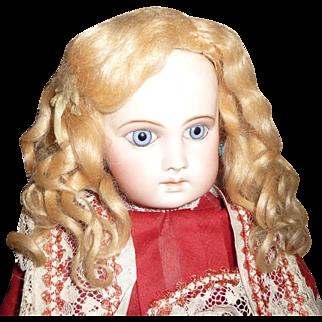 Beautiful original antique golden blond mohair doll wig