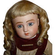 Beautiful antique mohair doll wig with ringlets in small size