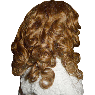 Fantastic antique mohair doll wig for small german or french doll