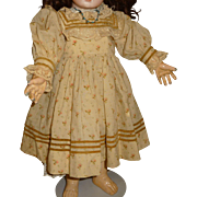 Antique wool print doll dress original for german or french doll