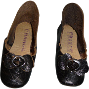 Antique doll shoes original leather french shoes