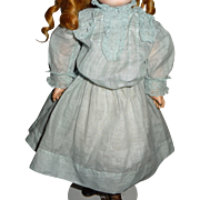 "Beautiful antique doll dress for 14-17"" doll or bebe"
