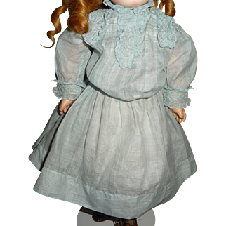 """Beautiful antique doll dress for 14-17"""" doll or bebe"""