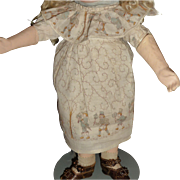 Darling factory made antique doll dress with original slip