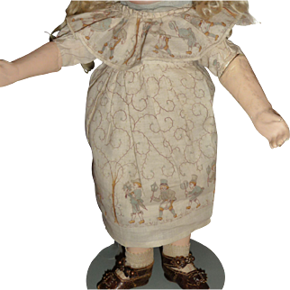 Darling factory made antique doll dress with original slip