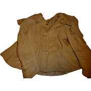 Antique wool child's jacket for doll or antique doll dress project