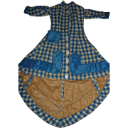 Antique original wool german or french fashion doll dress