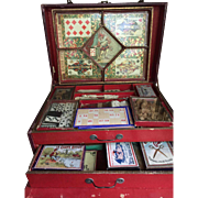 Antique French game box full filled and complete