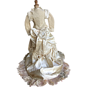 French fashion doll silk ivory taffeta dress