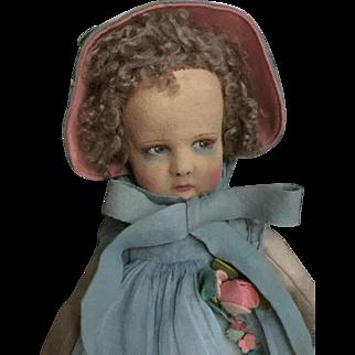 Son original early lenci 300 doll with organdy dress