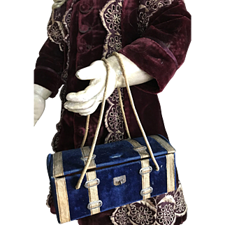 Antique blue velvet BAG