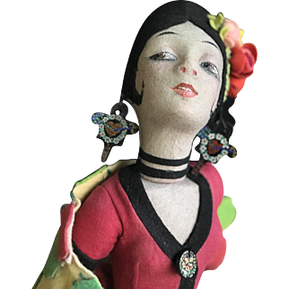 Lenci Spanish Dancer with original accessories and shawl