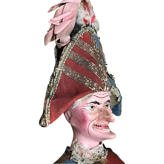 Early French papier mache' Polichinelle about 1880 era