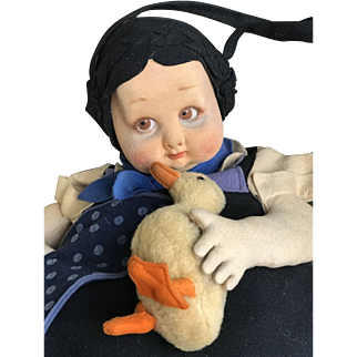 So funny nice and rare lenci model 178 with duck pijama holder